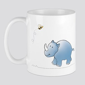 Rhino and Bee Mug