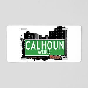Calhoun Ave Aluminum License Plate