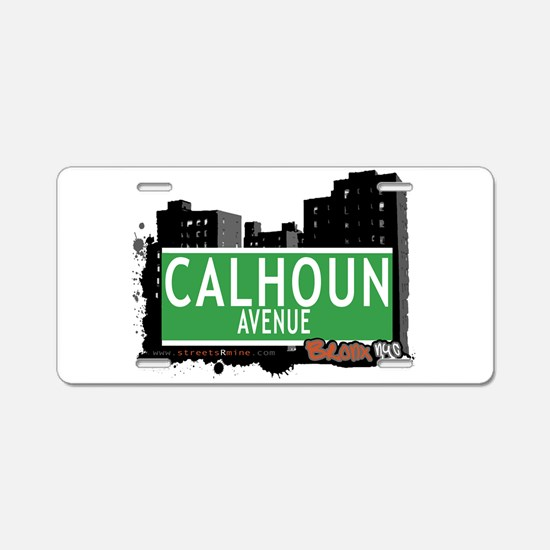 Calhoun Ave Aluminum License Plate