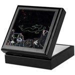 Neon Mermaid Keepsake Box