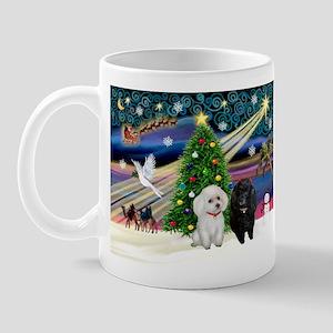 Xmas Magic-2 Poodles (ST) Mug