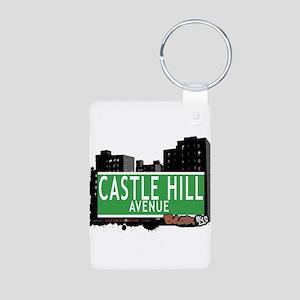 Castle Hill Ave Aluminum Photo Keychain