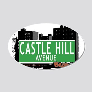 Castle Hill Ave 20x12 Oval Wall Decal