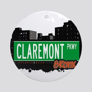 CLAREMONT PKWY Ornament (Round)