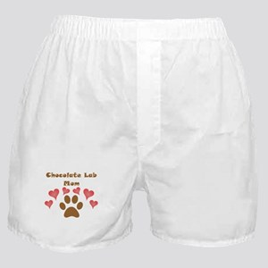 Chocolate Lab Mom Boxer Shorts