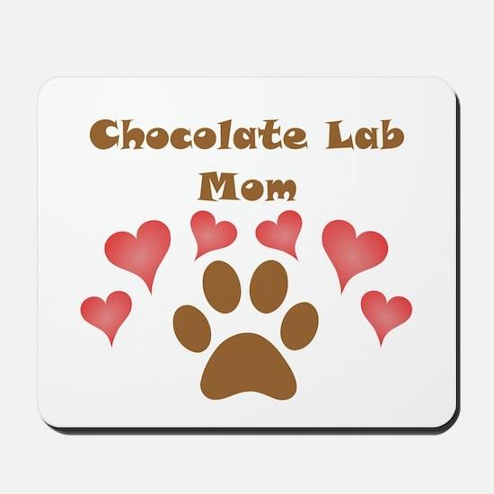 Chocolate Lab Mom Mousepad