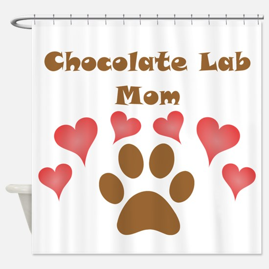 Chocolate Lab Mom Shower Curtain