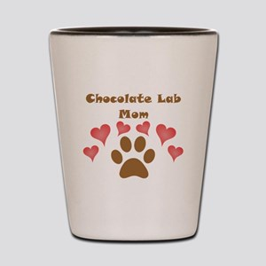Chocolate Lab Mom Shot Glass