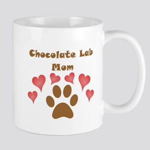 Chocolate Lab Mom Small Mug