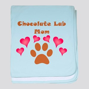 Chocolate Lab Mom baby blanket