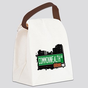 Commonwealth Ave Canvas Lunch Bag