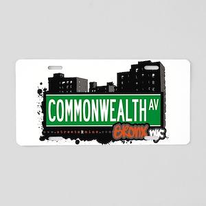 Commonwealth Ave Aluminum License Plate