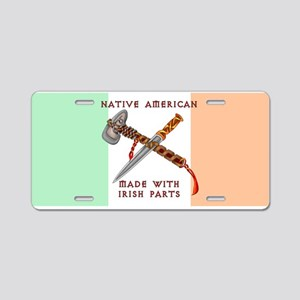Native American/Irish Aluminum License Plate