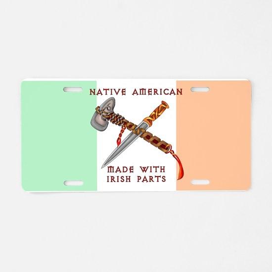 Native American/Irish Aluminum License Plate