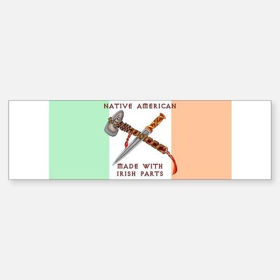 Native American/Irish Bumper Car Car Sticker