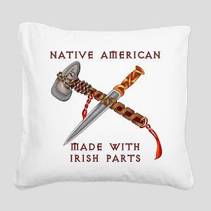 Native American/Irish Square Canvas Pillow