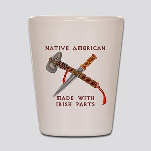 Native American/Irish Shot Glass