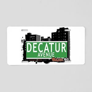Decatur Ave Aluminum License Plate