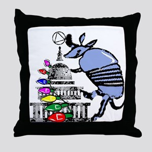 Armadillo Recovery Throw Pillow