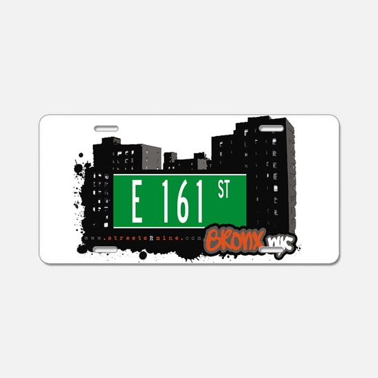 E 161 St Aluminum License Plate