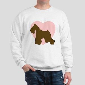 Miniature Schnauzer Heart Sweatshirt