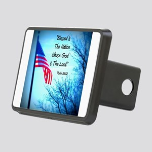 Bless Is The Nation Flag Rectangular Hitch Cover