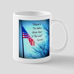 Bless Is The Nation Flag Mug