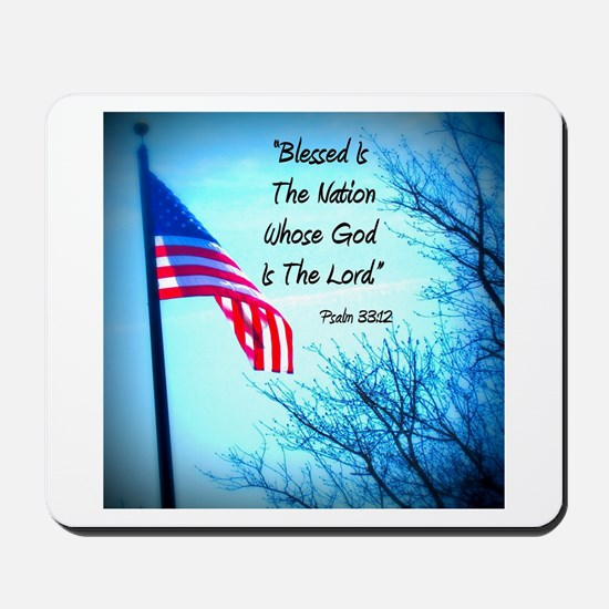Bless Is The Nation Flag Mousepad