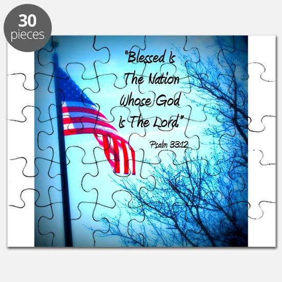 Bless Is The Nation Flag Puzzle
