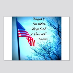 Bless Is The Nation Flag Postcards (Package of 8)