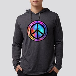 Warped Peace Sign Mens Hooded Shirt
