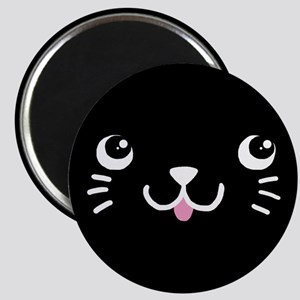Black Kitty Face Magnet