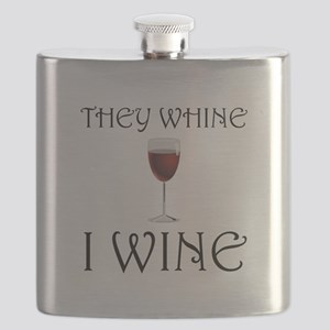 They Whine I Wine Flask