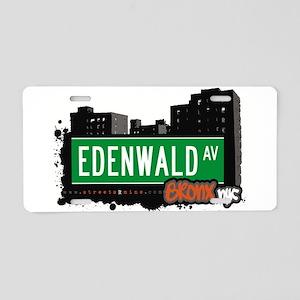 Edenwald Ave Aluminum License Plate