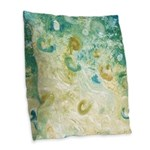 Sand and Surf Abstract Burlap Throw Pillow