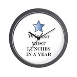 Thee Free Lunch Award - Wall Clock