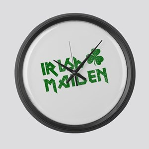 Irish Maiden Large Wall Clock