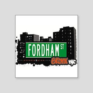 "Fordham St Square Sticker 3"" x 3"""