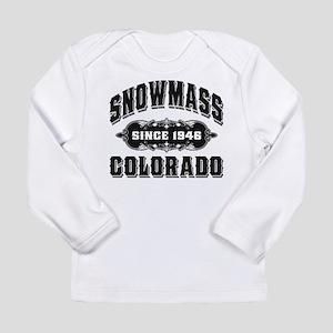 Snowmass Since 1946 Black Long Sleeve Infant T