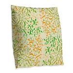 Abstract Arabic Design Burlap Throw Pillow