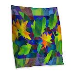 Leaf Mosaic Burlap Throw Pillow