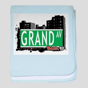 Grand Ave baby blanket