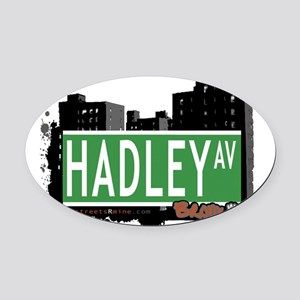 Hadley Ave Oval Car Magnet