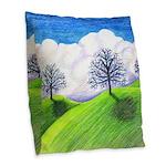 California Spring Burlap Throw Pillow