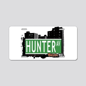 Hunter Ave Aluminum License Plate
