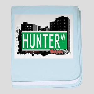 Hunter Ave baby blanket
