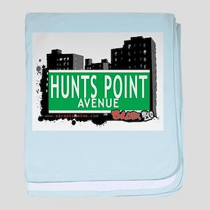 Hunts Point Ave baby blanket