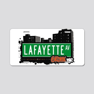 Lafayette Ave Aluminum License Plate