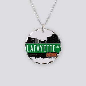 Lafayette Ave Necklace Circle Charm