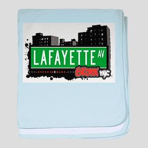 Lafayette Ave baby blanket